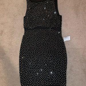 Black Sparkle Club Dress  - Size L